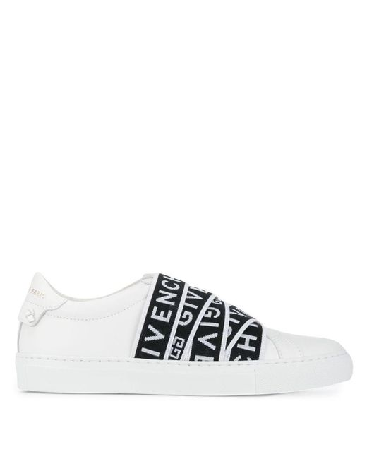 Givenchy White 4g Webbing Sneakers