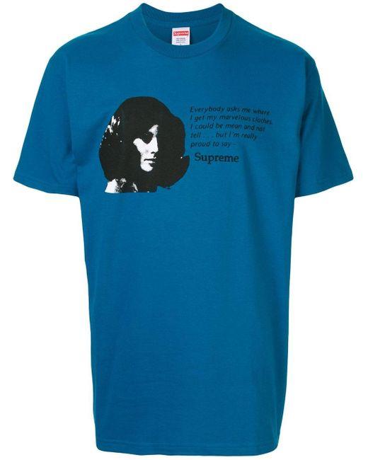 メンズ Supreme Mean Tシャツ Blue
