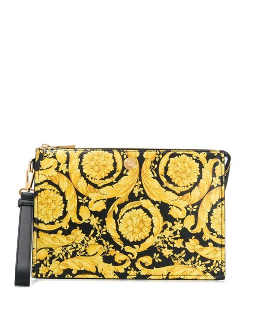 Кошелек Для Монет С Принтом Barocco Versace для него, цвет: Yellow