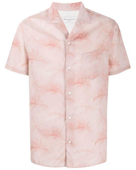 メンズ Officine Generale パームツリー シャツ Pink