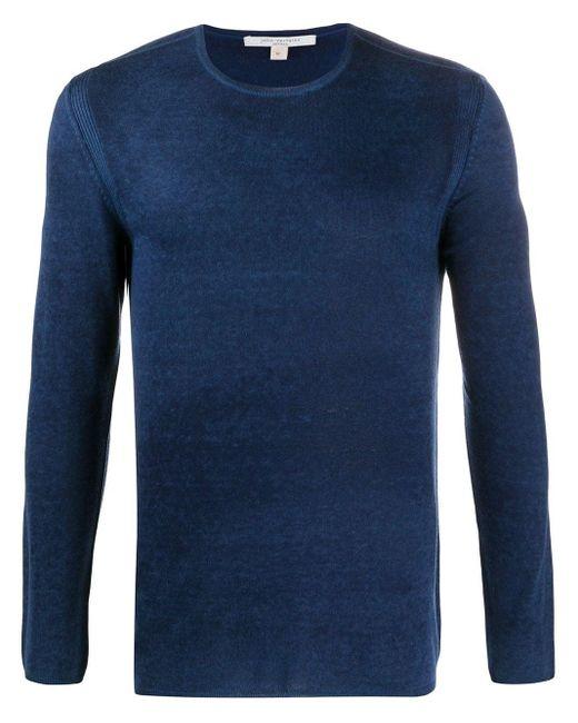 メンズ John Varvatos ストライプディテール スウェットシャツ Blue