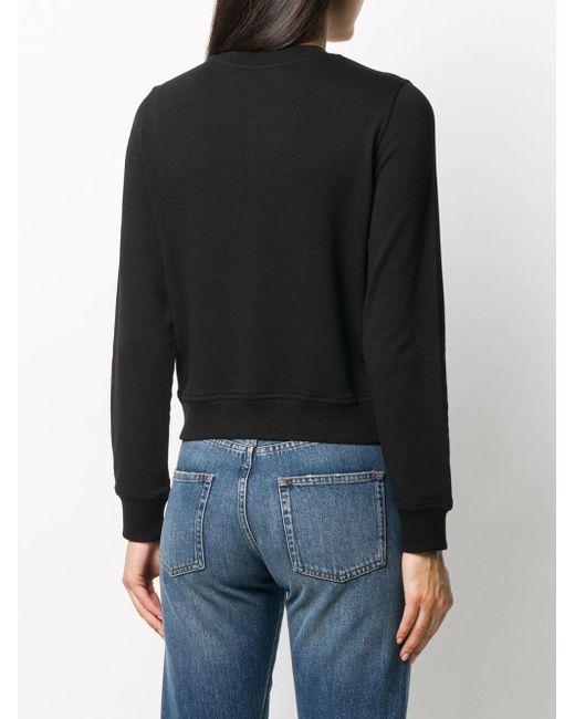 Love Moschino ハートパッチ スウェットシャツ Black