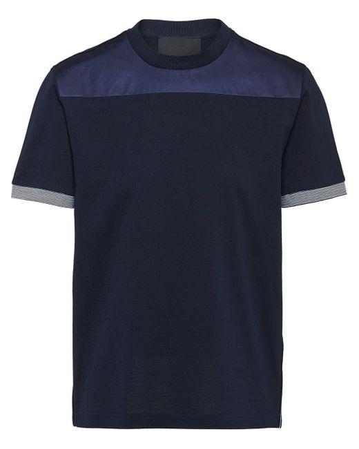 メンズ Prada パネル Tシャツ Blue