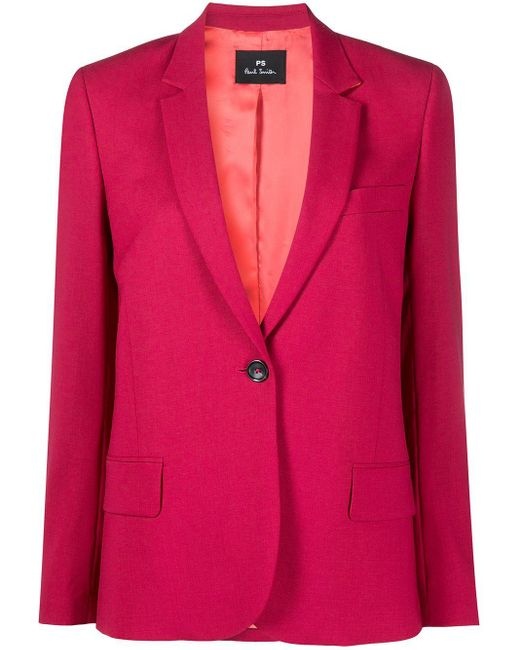 PS by Paul Smith Pink Single Breasted Jacket