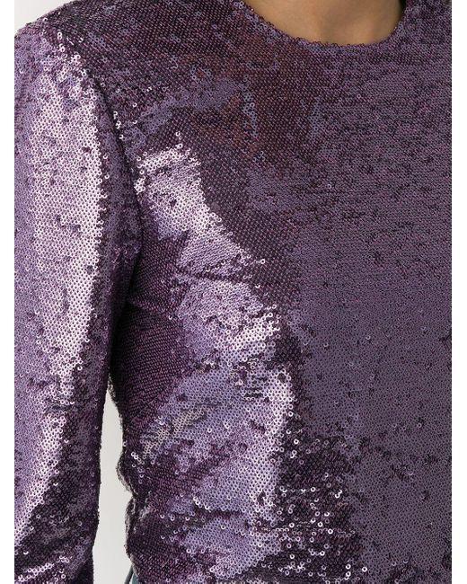 Philosophy Di Lorenzo Serafini スパンコール ブラウス Purple