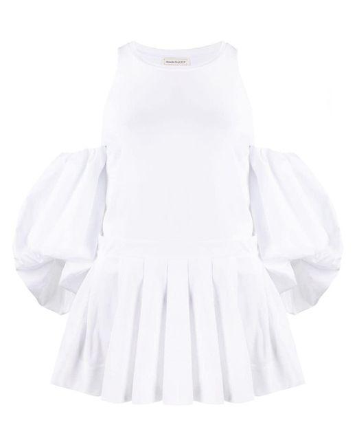Блузка С Пышными Рукавами Alexander McQueen, цвет: White
