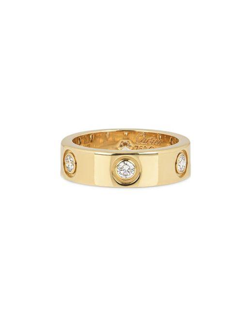 Cartier プレオウンド Love ダイヤモンド リング 18kイエローゴールド Metallic