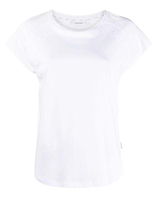 Calvin Klein クロップドスリーブ Tシャツ White