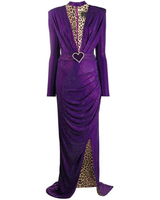 Philipp Plein プランジネック ドレス Purple