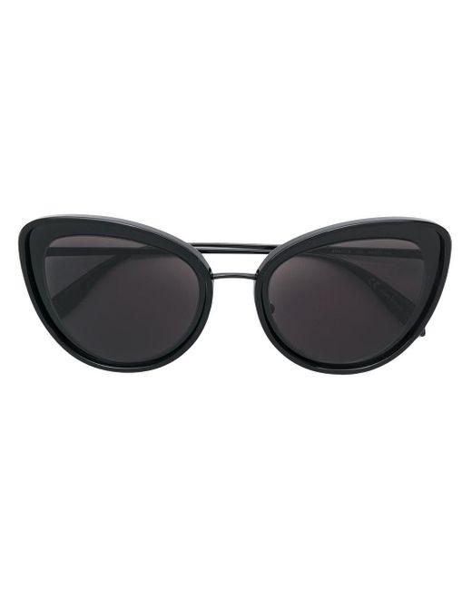 Alexander McQueen Cat Eye Sunglasses Black