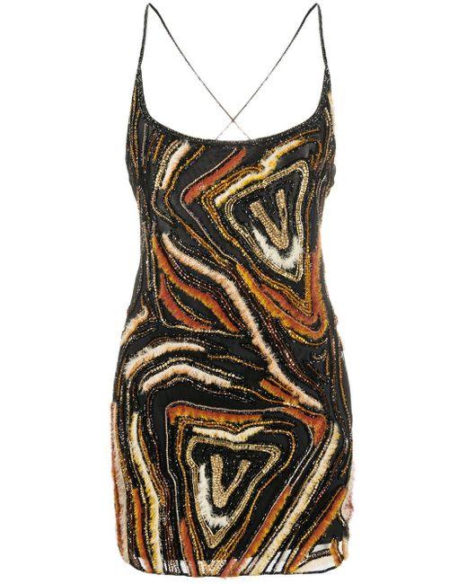 Платье Мини С Вышивкой Virtus Animalier Versace, цвет: Black
