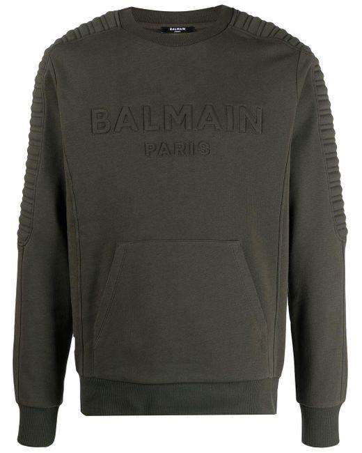 メンズ Balmain ロゴ スウェットシャツ Black