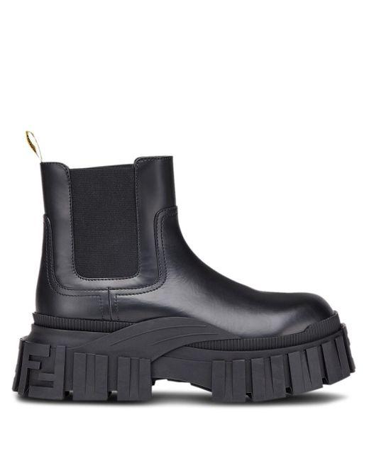 Ботинки По Щиколотку Fendi для него, цвет: Black