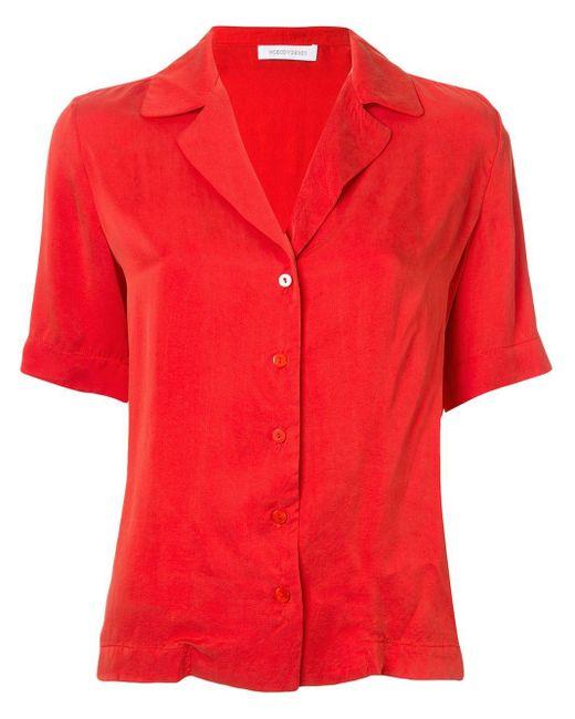 Camicia Gallery a maniche corte di Nobody Denim in Red