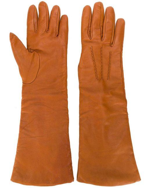 Перчатки Длиной Три Четверти P.A.R.O.S.H., цвет: Orange