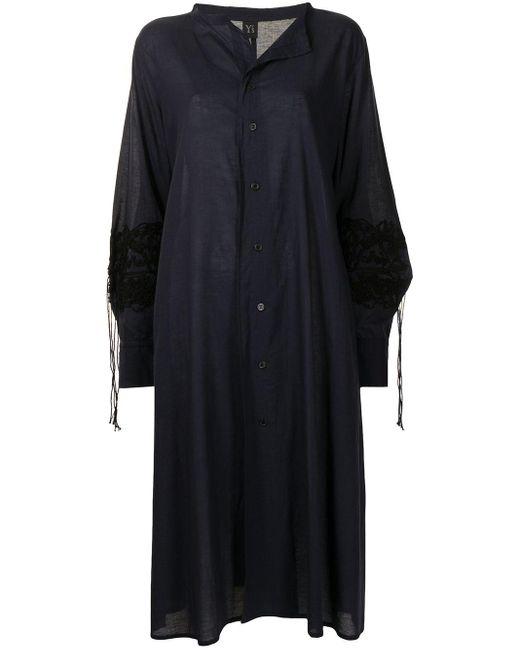 Y's Yohji Yamamoto デコラティブ シャツドレス Blue
