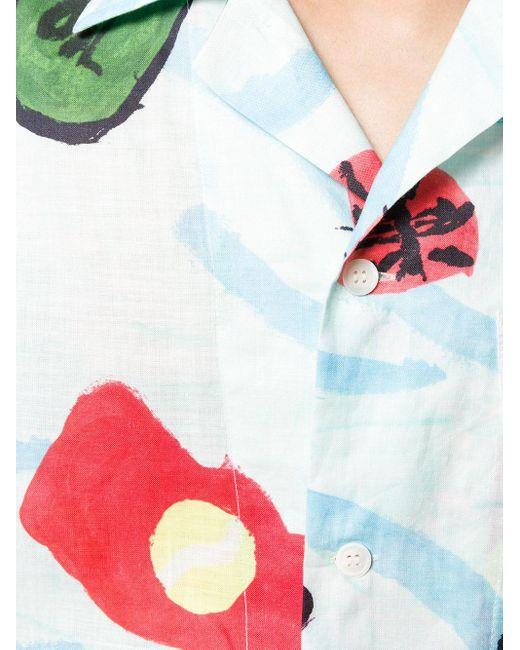 メンズ Marni プリントシャツ Blue