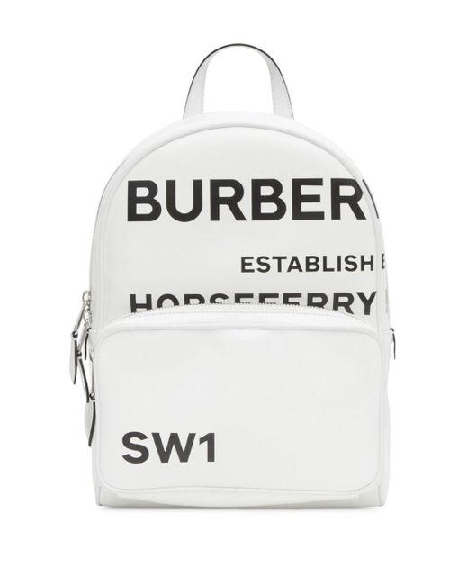 Burberry Rugzak Met Print in het White