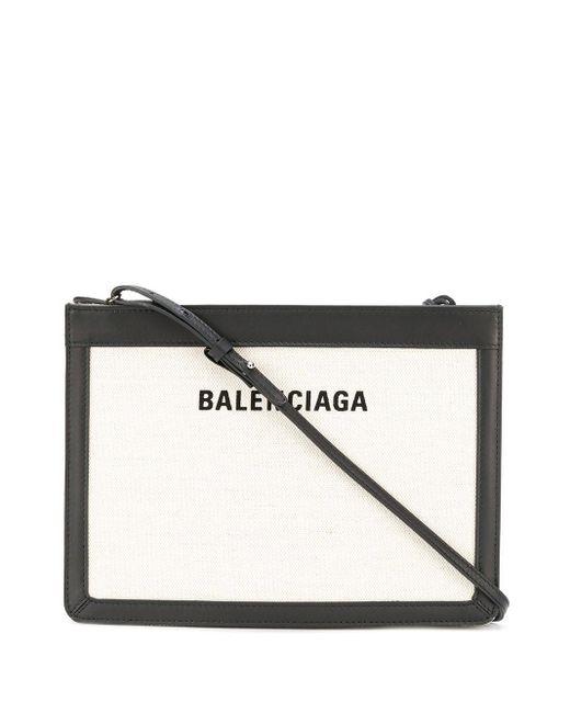 Balenciaga ネイビー ポシェット ショルダーバッグ Black
