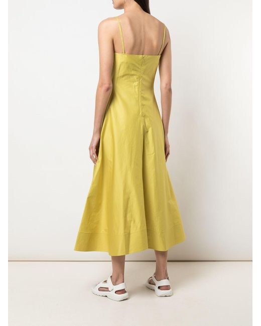 3.1 Phillip Lim スパゲティストラップ ドレス Yellow