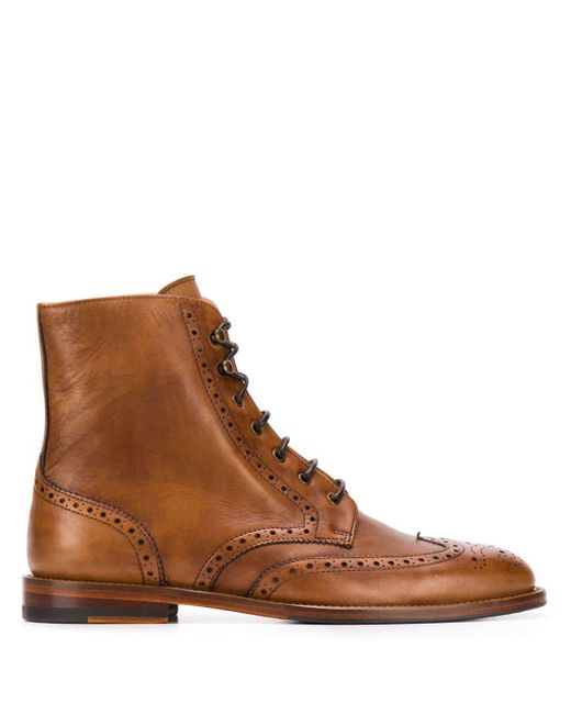 Scarosso Stefania レースアップブーツ Brown