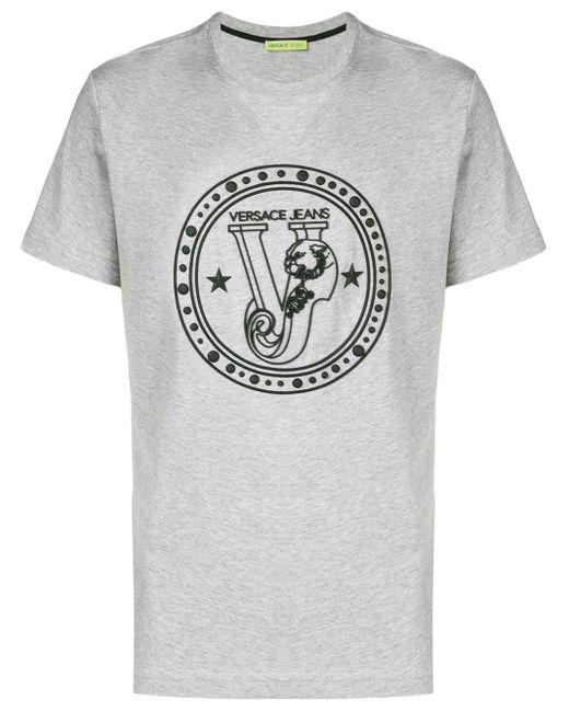 メンズ Versace Jeans ロゴ Tシャツ Gray