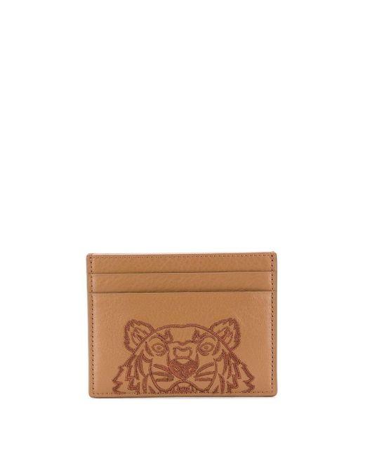 Картхолдер Tiger Head KENZO для него, цвет: Brown