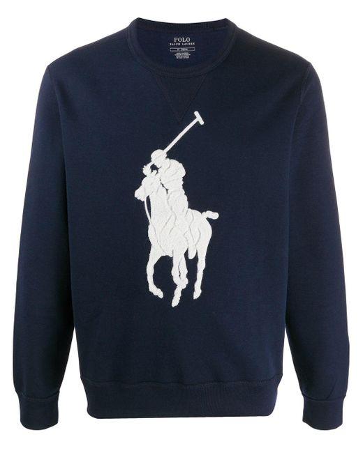 メンズ Polo Ralph Lauren クロシェ スウェットシャツ Blue