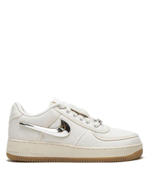 Nike White X Travis Scott Air Force Low 1 Sneakers