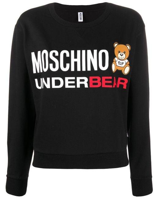 Moschino Underbear スウェットシャツ Black