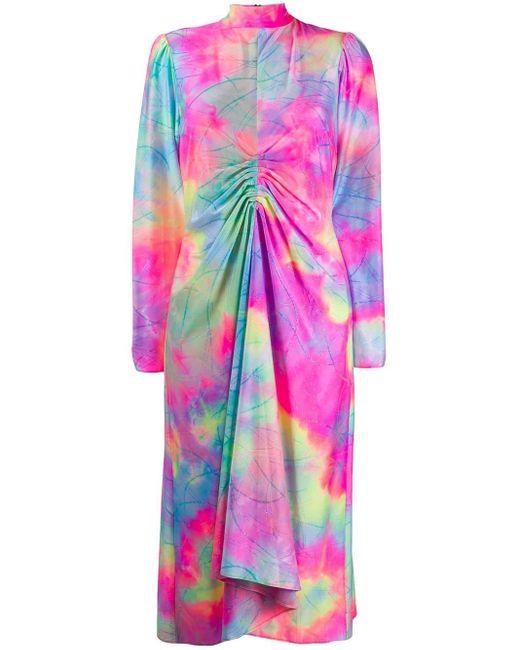 Sies Marjan プリント ドレス Pink