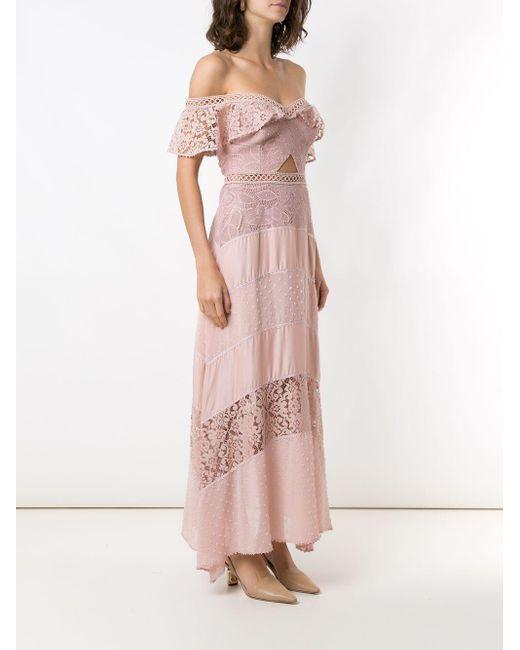 Martha Medeiros Rachel レース ドレス Pink