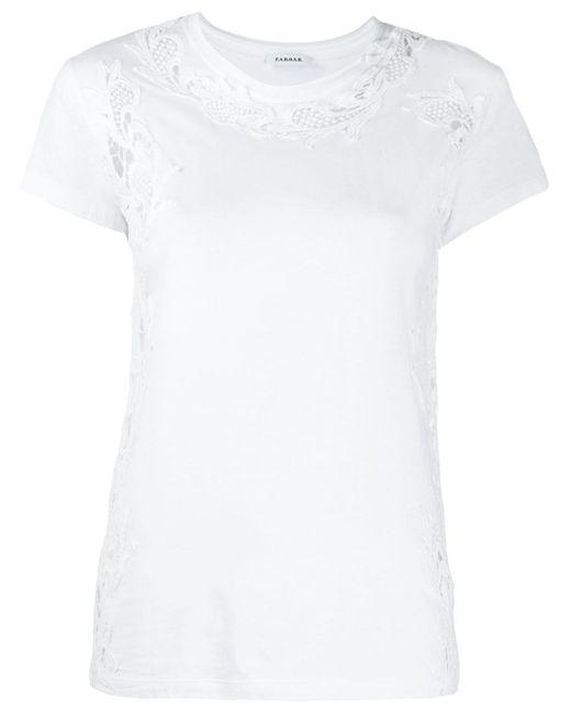 P.A.R.O.S.H. White T-Shirt mit Cut-Outs