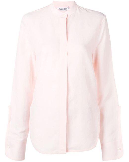 Jil Sander バンドカラー シャツ Pink