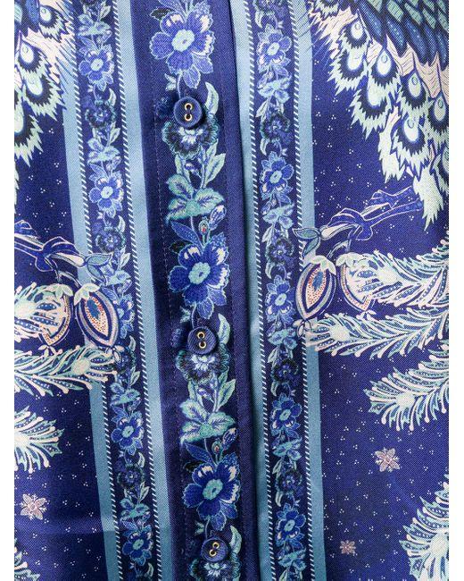 Zimmermann パターン シャツ Blue