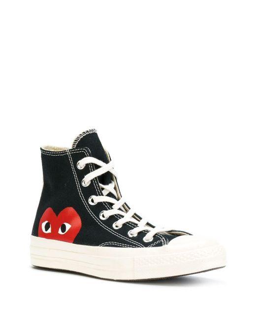 COMME DES GARÇONS PLAY Black Converse x Comme Des Garçons Play 'Chuck 70' Sneakers