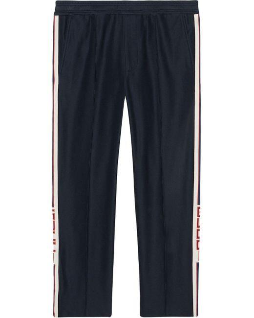 メンズ Gucci ストライプ ジョギングパンツ Blue