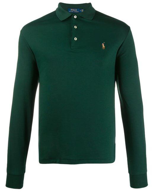 メンズ Polo Ralph Lauren ロングスリーブ ポロシャツ Green