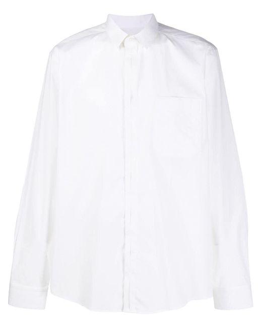 メンズ Les Hommes チェストポケット シャツ White