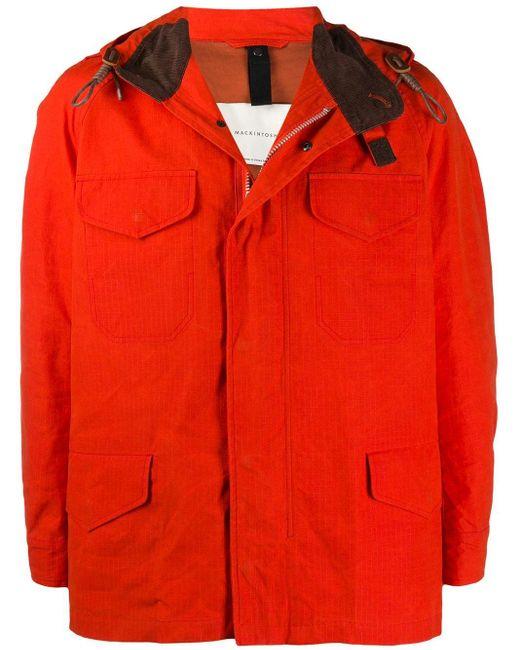 メンズ Mackintosh Drumming レインジャケット Orange