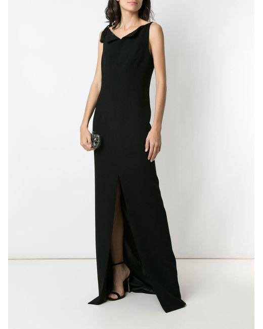 Vestido de fiesta Weaving À La Garçonne de color Black