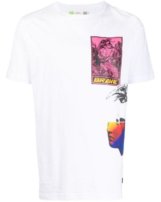 DIESEL グラフィック Tシャツ White