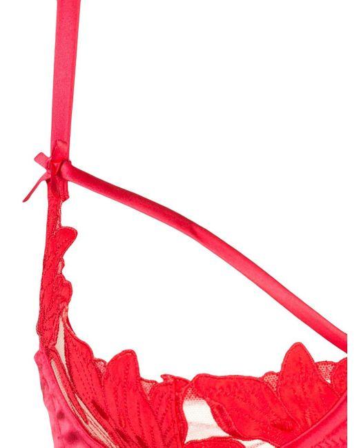 Fleur du Mal Lily Lace Peekaboo ブラジャー Red