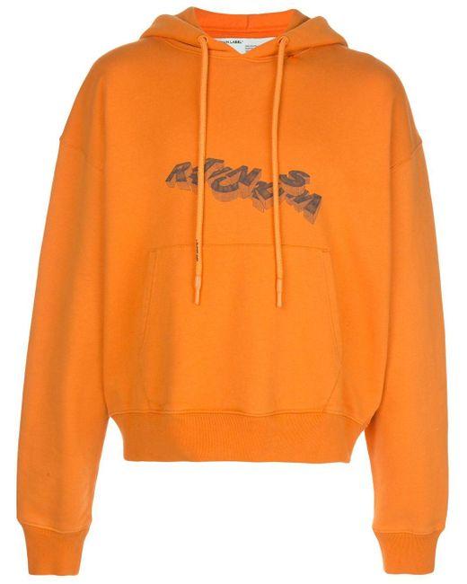 メンズ Off-White c/o Virgil Abloh グラフィック パーカー Orange