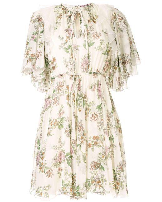 Giambattista Valli White Floral Print Dress