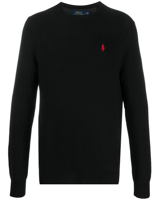 メンズ Polo Ralph Lauren ロゴ スウェットシャツ Black