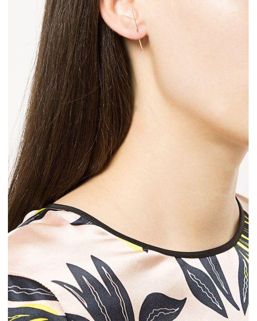 Diamond Post Earring 0101 Shihara, цвет: Metallic