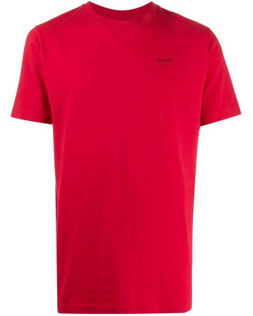 メンズ Off-White c/o Virgil Abloh Arrow Tシャツ Red