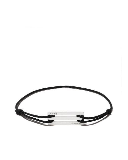 Le Gramme Multicolor 25/10g Cord Bracelet