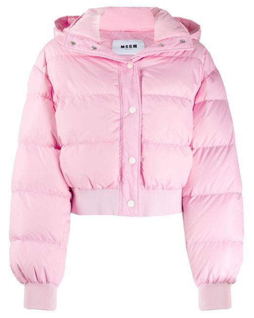 Куртка-пуховик MSGM, цвет: Pink